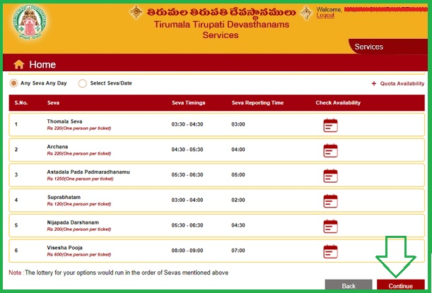 TTD Nijapada Darshanam Tickets Online booking timings